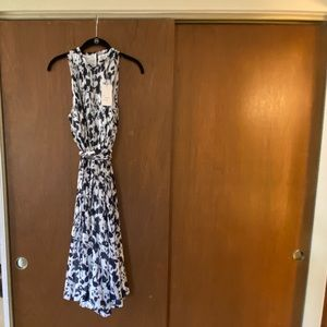 Navy and white floral cocktail dress new with tag